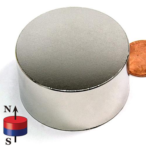 "1 3/4""X1"" N45 Neodymium Magnet"