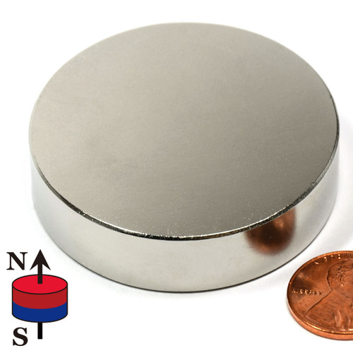 "2""x1/2"" N50 Disc Neodymium Magnet"
