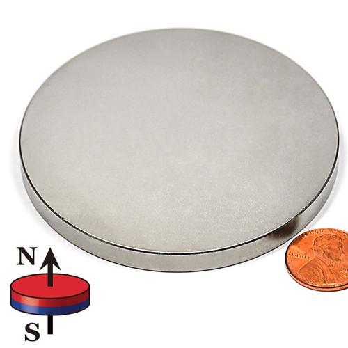 "3 x 1/4"" NdFeB Rare Earth Disc Magnet"