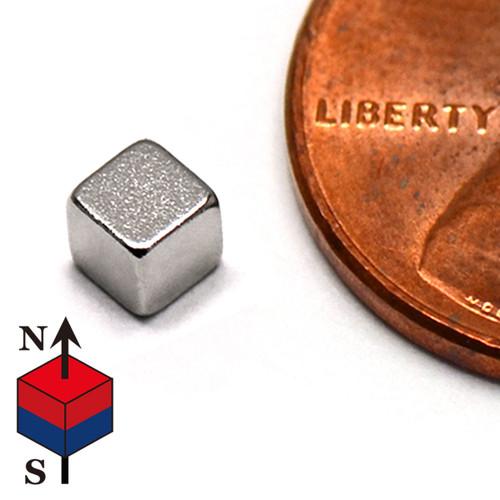 "1/8"" Cube Rare Earth NdFeB Magnets"