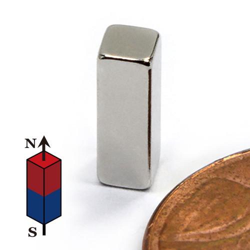 """1/8""""x1/8""""x3/8"""" Neodymium Rare Earth Block Magnet"""