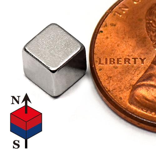 """3/16"""" Neodymium Rare Earth Cube Magnet"""