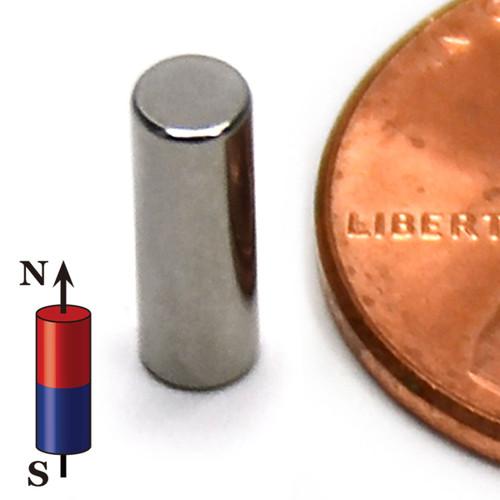 "Neodymium Magnets N50 Neodymium  Cylinder Magnet 1/8""x3/8"" Rare Earth  Cylindrical Magnet"