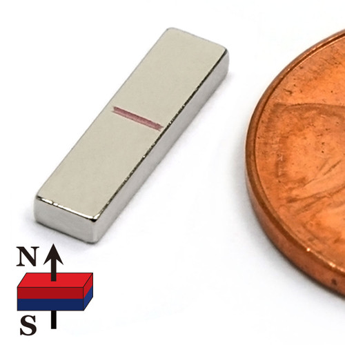 """1/2""""x1/8""""x1/16"""" Neodymium Rare Earth Block Magnet"""