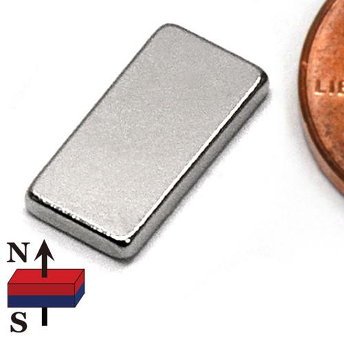 "1/2x1/4x1/16"" NdFeB Rare Earth Magnet"