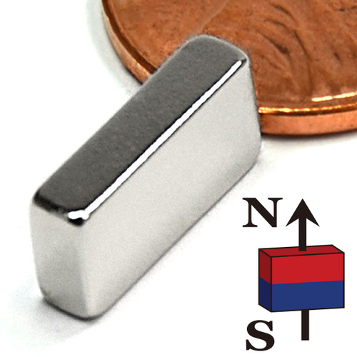 "1/2""x1/8""x1/4"" NdFeB Rare Earth Magnets"