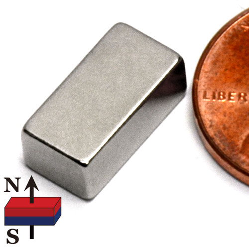 "1/2x1/4x3/16"" Rare Earth Magnet"