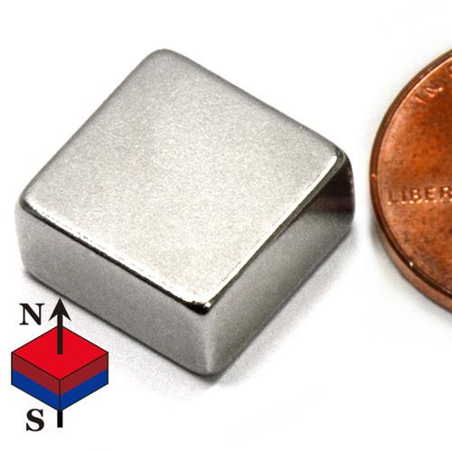 "N50 1/2x1/2x1/4"" NdFeB Rare Earth Magnet"