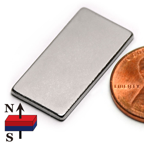 "1""X1/2""X1/16"" NdFeB Rare Earth Magnets"