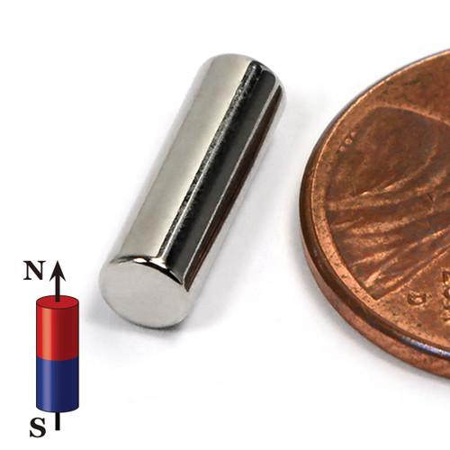 """Cylindrical Neodymium Magnets N52 N52 Neodymium Cylinder Magnet  5/32""""x1/2"""" Rare Earth Cylindrical Magnets"""