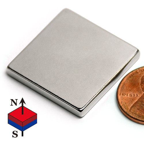 "1""x1""x1/8"" NdFeB Rare Earth Magnets"