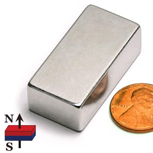 "1.5x3/4x1/2"" NdFeB Rare Earth Magnet"