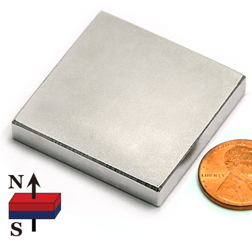 "1.5""x1.5""x1/4"" NdFeB Rare Earth Magnets"