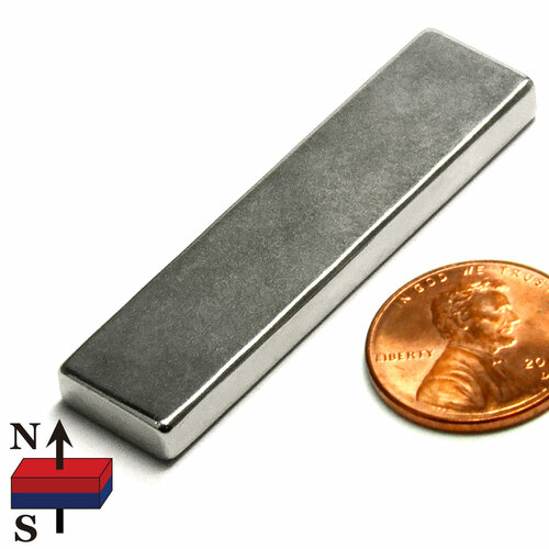 "2x1/2x3/16"" NdFeB Rare Earth Rectangle Magnet"