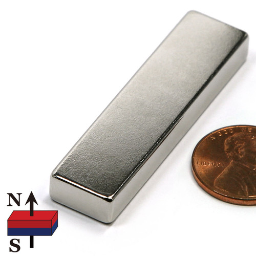 "2x1/2x1/4"" NdFeB Rare Earth Rectangle Magnet"