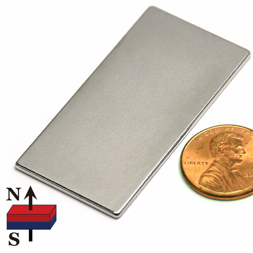 "2x1x1/16"" NdFeB Rare Earth Rectangle Magnet"