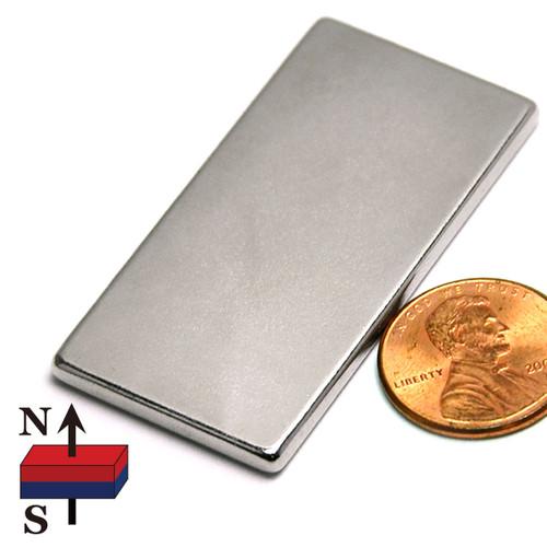 "2x1x1/8"" NdFeB Rare Earth Magnet"