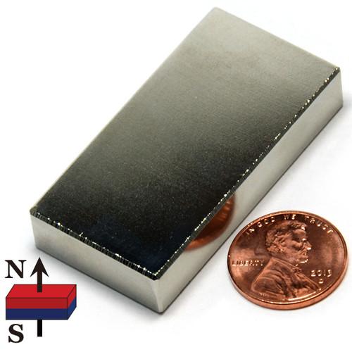 "2x1x3/8"" Block Neodymium Magnet"