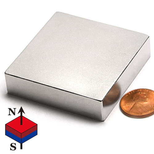 "N50 2""X2""X1/2"" NdFeB Rare Earth Magnets"