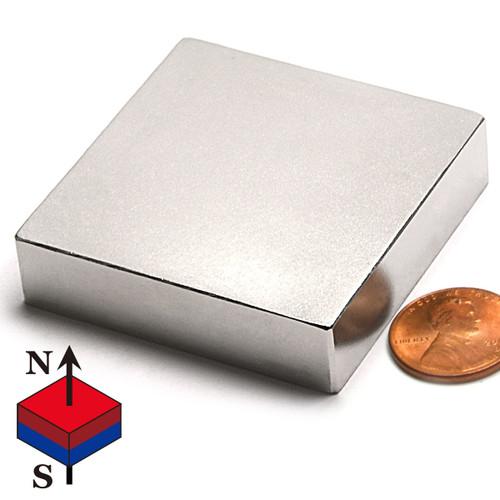 "N52 2X2X1/2"" NdFeB Rare Earth Rectangular Magnets"