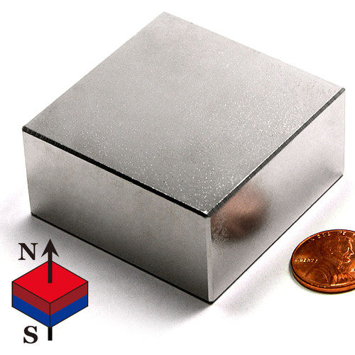 "2x2x1"" NdFeB Rare Earth Magnet Block"