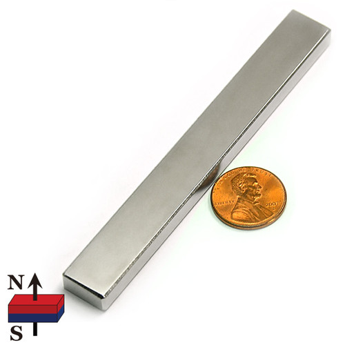 "4""X1/2""X1/4"" NdFeB Rare Earth Magnets"