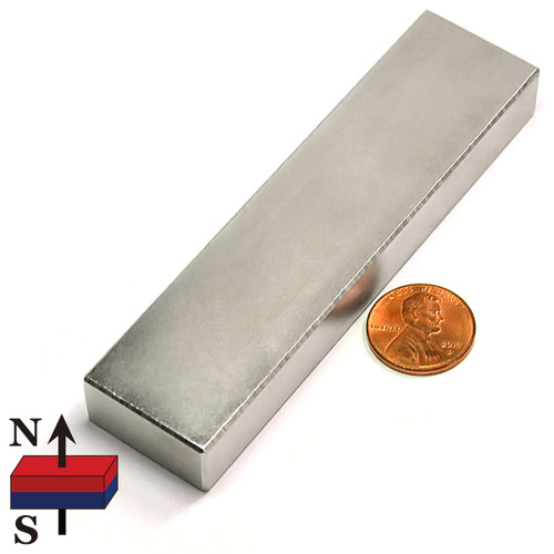 "4""x1""x1/2"" NdFeB Rare Earth Magnets"
