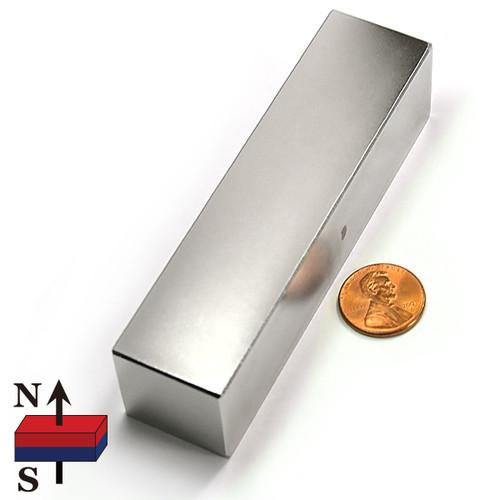 """4""""X1""""X1"""" Grade N45 Block Neodymium Magnets"""