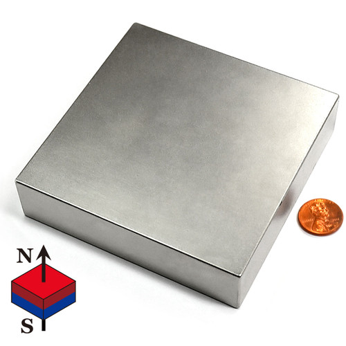 "4X4X1"" NdFeB Rare Earth Magnet"