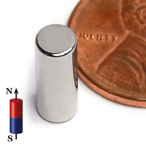 "N45 Neodymium Disc Magnet 3/16""x1/2"" Rare Earth Disc Magnets (ND0133-45NM)"
