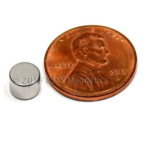 """Rare Earth Magnets N42 1/4""""x3/16"""" Neodymium Rare Earth Disc Magnet"""