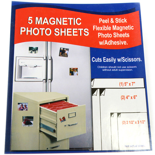 Magnetic Photo Sheets with Adhesive