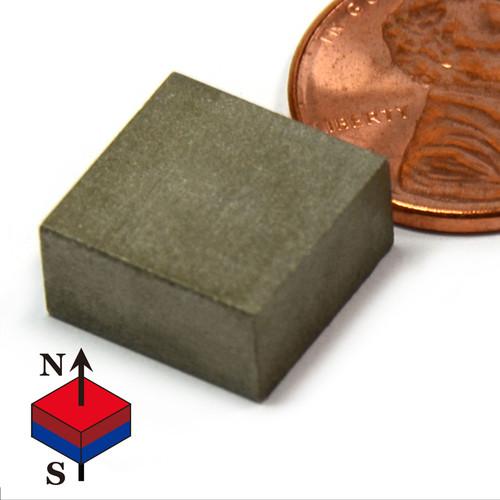 """Block SmCo Magnets SmCo Magnets Block 1/2X1/2X1/4"""" Samarium Cobalt Magnets 608 F Temperature"""