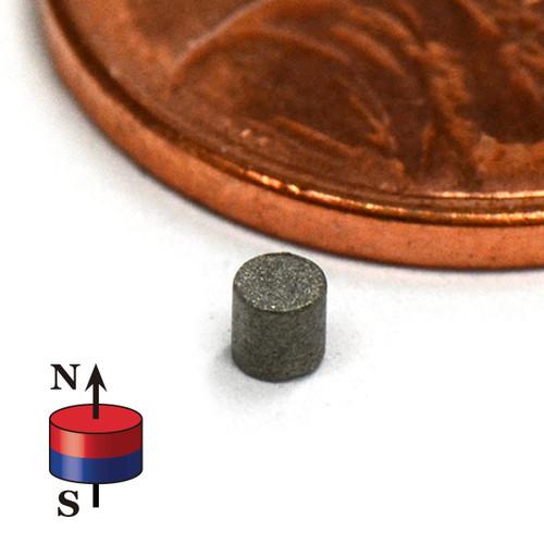 SmCo Magnets SmCo Magnet Dia 2mmx2mm Samarium Cobalt 608 F Working Temperature (SMD001-26) <alt>SmCo/>