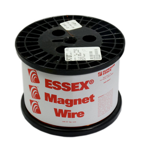 197 Length 0.0223 Diameter,Red 4 oz Heavy Build Enameled Copper Wire Magnet Wire 24 AWG