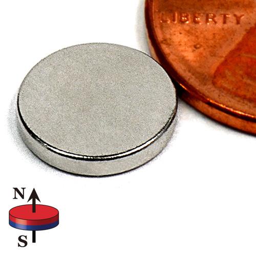 """N45 Neodymium Disc Magnet 3/8""""x1/16"""" Rare Earth Disc Magnets (ND025-45NM)"""