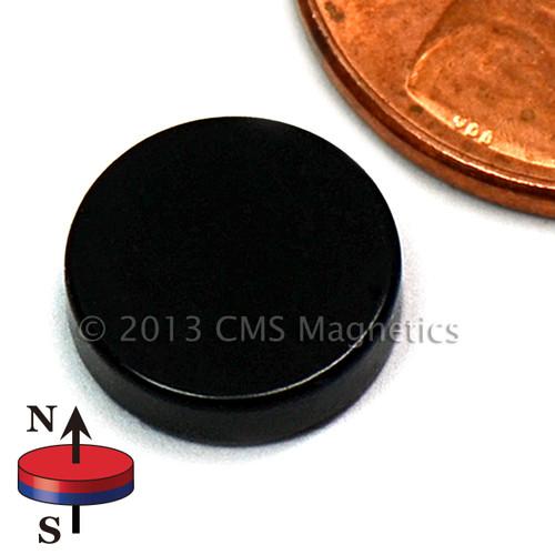 """Epoxy Coated Neodymium Magnets N42 Neodymium Disc Magnet 3/8""""x1/10"""" Epoxy Coated"""
