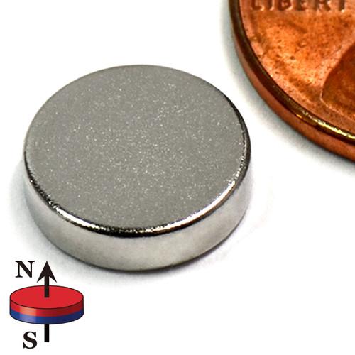 """N45 Neodymium Rare Disc Magnet 3/8""""x1/10"""""""