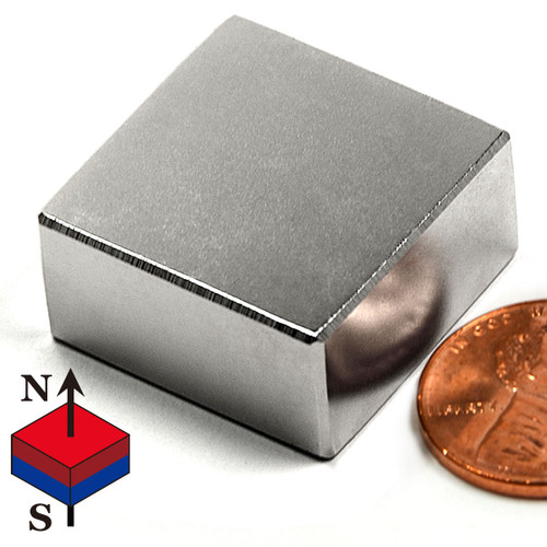 "1""x1""x1/2"" NdFeB Rare Earth Magnets"