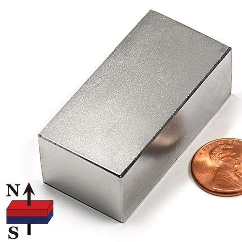 "N50 2x1x3/4"" NdFeB Rare Earth"