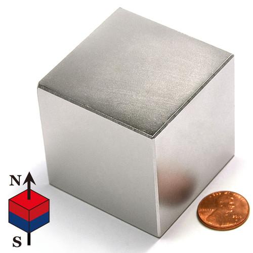 "N50 2"" Cube NdFeB Block Magnet"