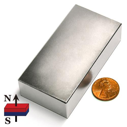 "3x1 1/2 x3/4"" NdFeB Rare Earth Magnet"