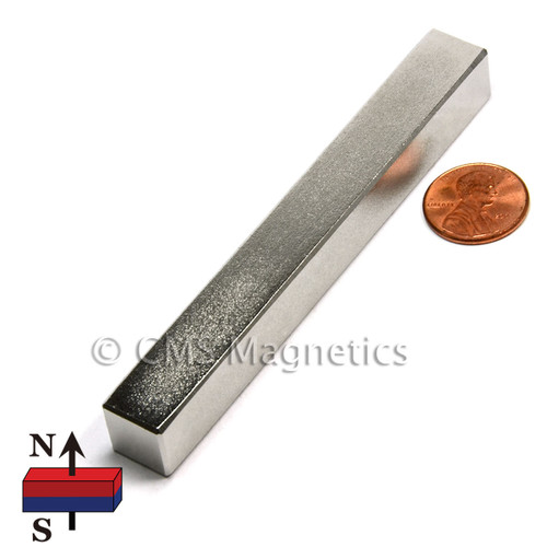 "N52 Rectangular Neodymium Magnets 4X1/2X1/2"" Neodymium bar magnets"