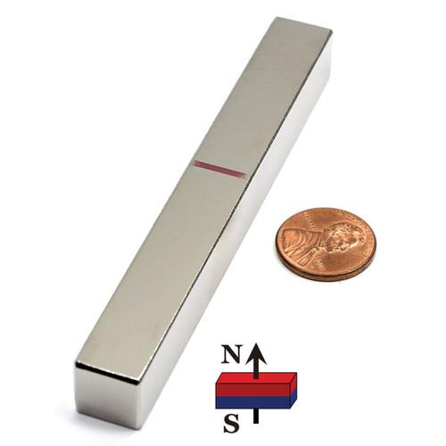 "Neodymium Magnet Bar N45 4""x1/2""x1/2"""