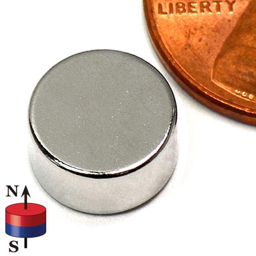"3/8 x 2/10"" NdFeB Rare Earth Disc"