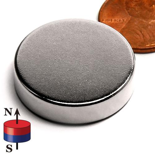 "1x1/4"" N45 Neodymium Magnet"
