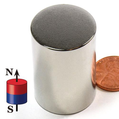 "1""x1 1/2"" N52 Neodymium Magnet Powerful Cylinder Magnet N52 Neodymium 1""x1-1/2"" (ND0555-52NM)"
