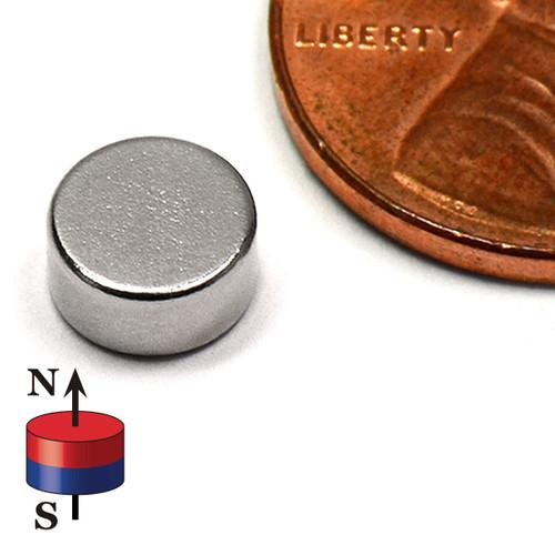 """Disc Magnet Rare Earth Neodymium N45 1/4""""x1/8"""""""