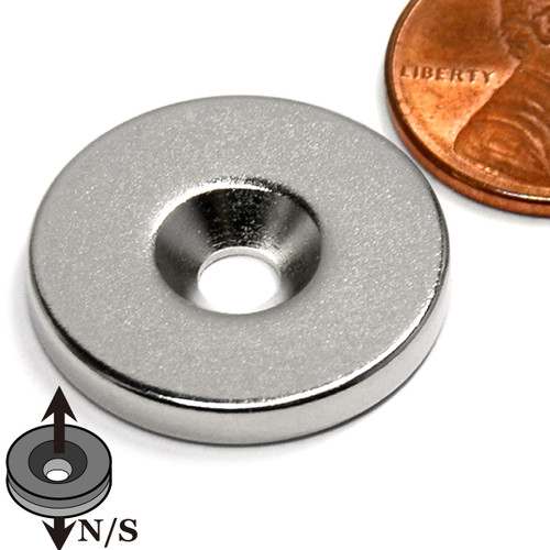 Neodymium Magnets with Countersunk Hole