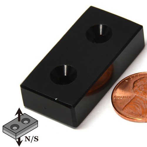Block Countersunk Neodymium Magnet